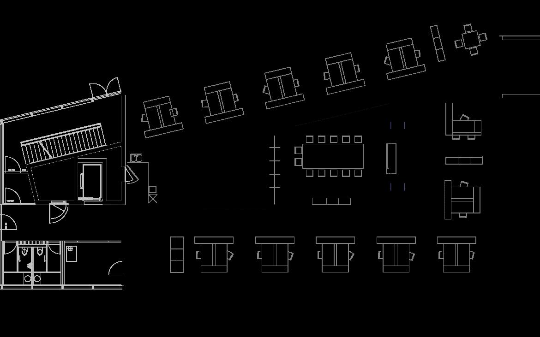 Grundriss Großraumbüro